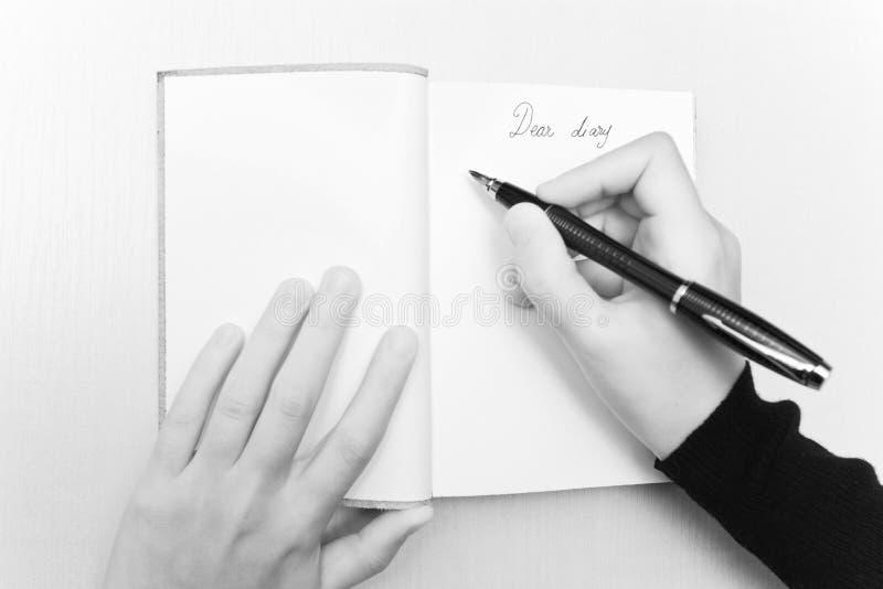 Liebes Tagebuch stockbild