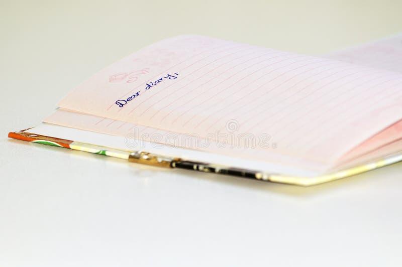 Liebes Tagebuch stockfotos