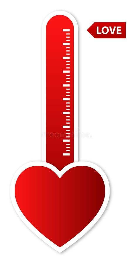 Liebes-Thermometer lizenzfreie abbildung