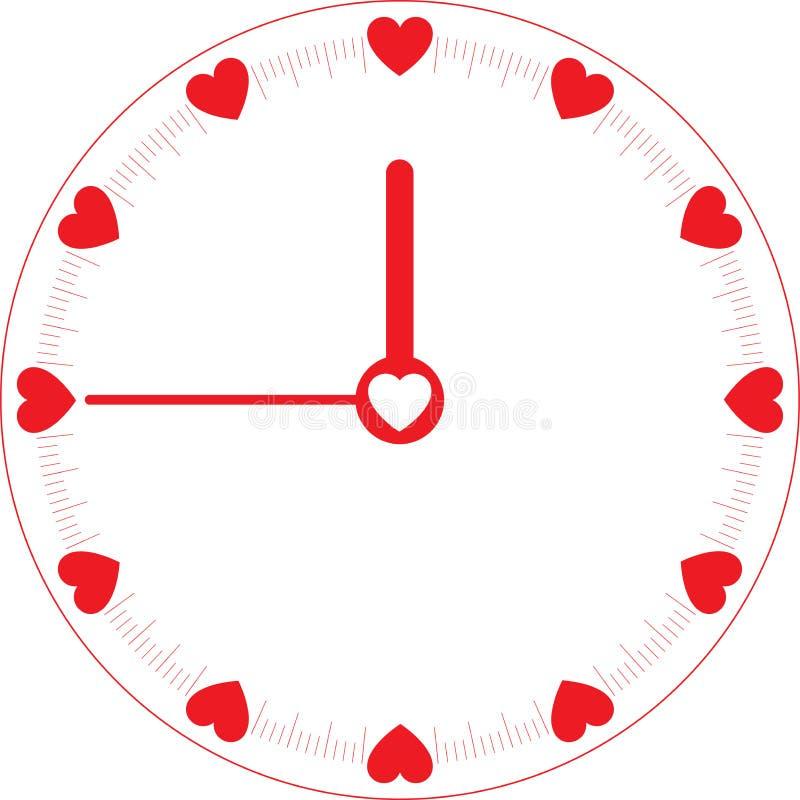 Liebes-Zeit-Borduhr stock abbildung