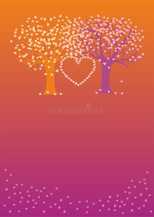 Liebesbäume stock abbildung