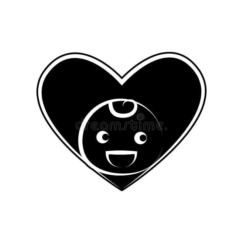 Liebesbabyikone Element der Mutterschaft für bewegliches Konzept und Netz Appsikone Glyph, flache Ikone für Websiteentwurf und En lizenzfreie abbildung