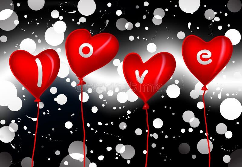 Liebesballone lizenzfreie abbildung