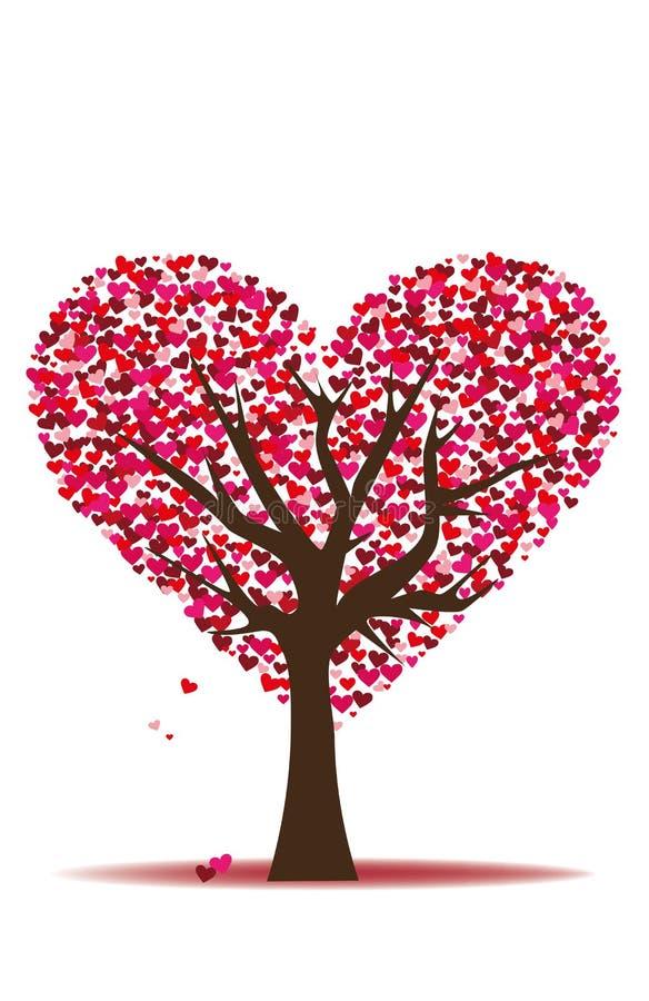 Liebesbaum lizenzfreie abbildung
