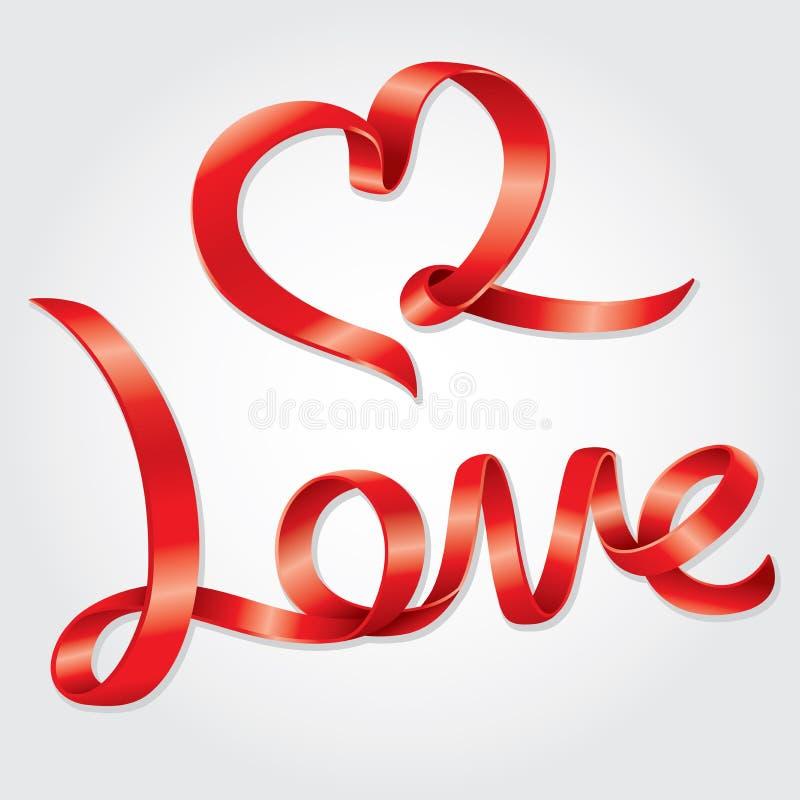 Liebesbenennungsband lizenzfreie abbildung