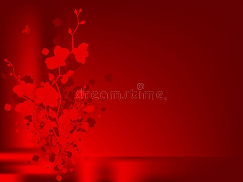 Liebesblumenauslegung mit Orchideen lizenzfreie abbildung