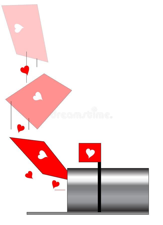 Liebesbrief stock abbildung