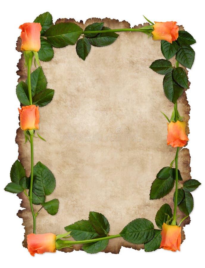 Liebesbrief auf einem Pergament stockbild