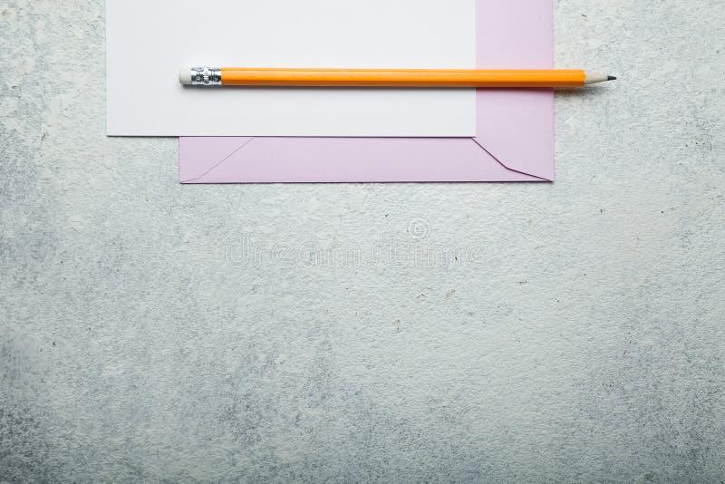 Liebesbrief, leerer Raum für Text stockbilder