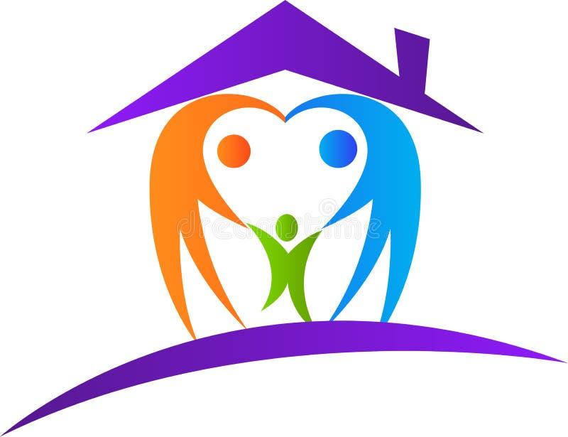 Liebesfamilienhaus lizenzfreie abbildung