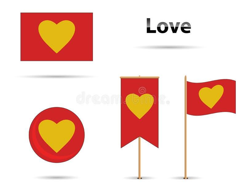 Liebesflaggen stockfotos