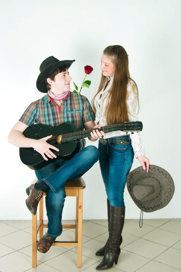 Liebesgeschichte des Cowboys lizenzfreies stockbild