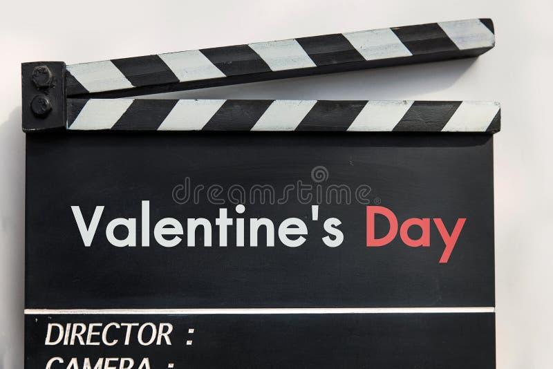 Liebesgeschichtefilmschiefer stockfoto
