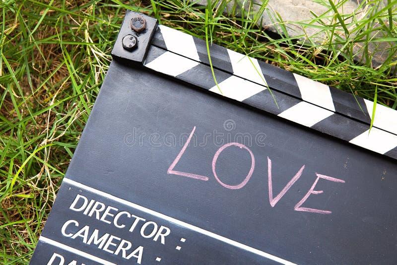 Liebesgeschichtefilmschiefer lizenzfreie stockfotos