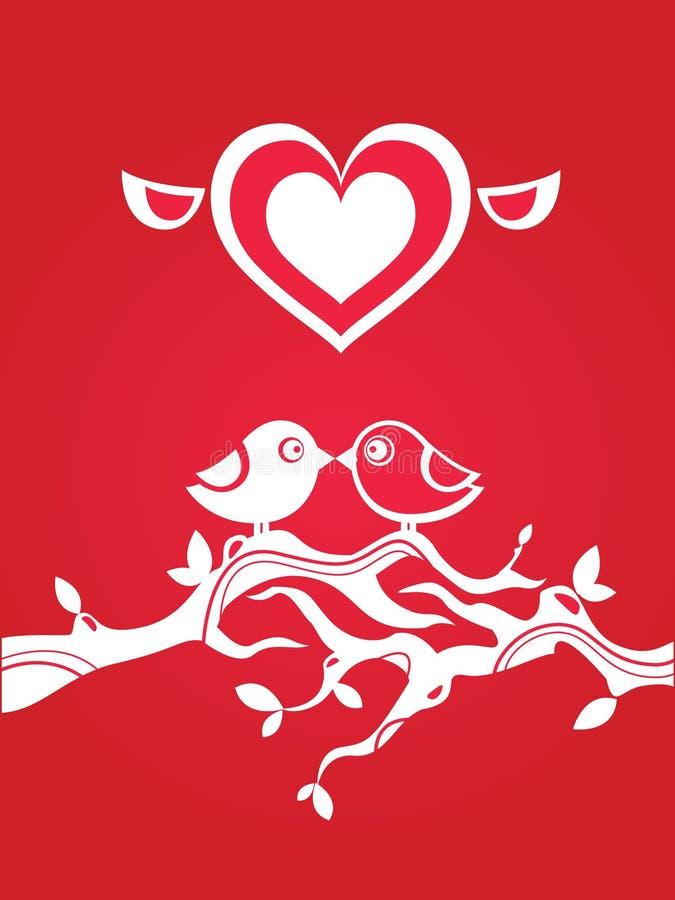 Liebesgrußkarte lizenzfreie abbildung