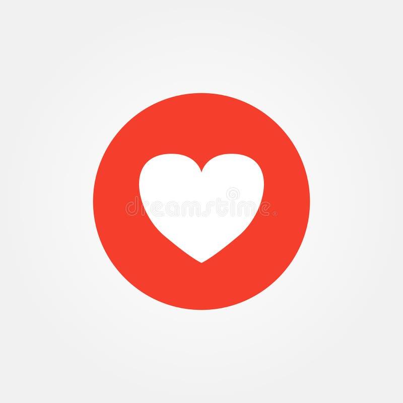 Liebesherz Emoticon-Vektorillustration stock abbildung