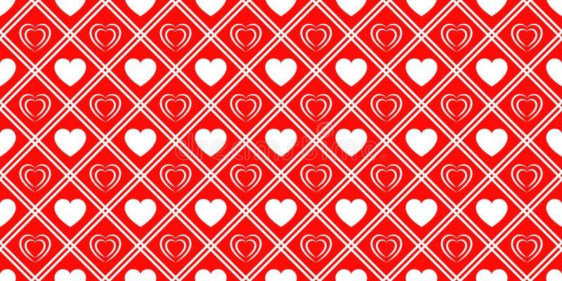 Liebesherzen wiederholten Beschaffenheit Heilig-Valentinsgruß-Tagesvektorhintergrund Romantisches nahtloses Muster für Grußkarten vektor abbildung