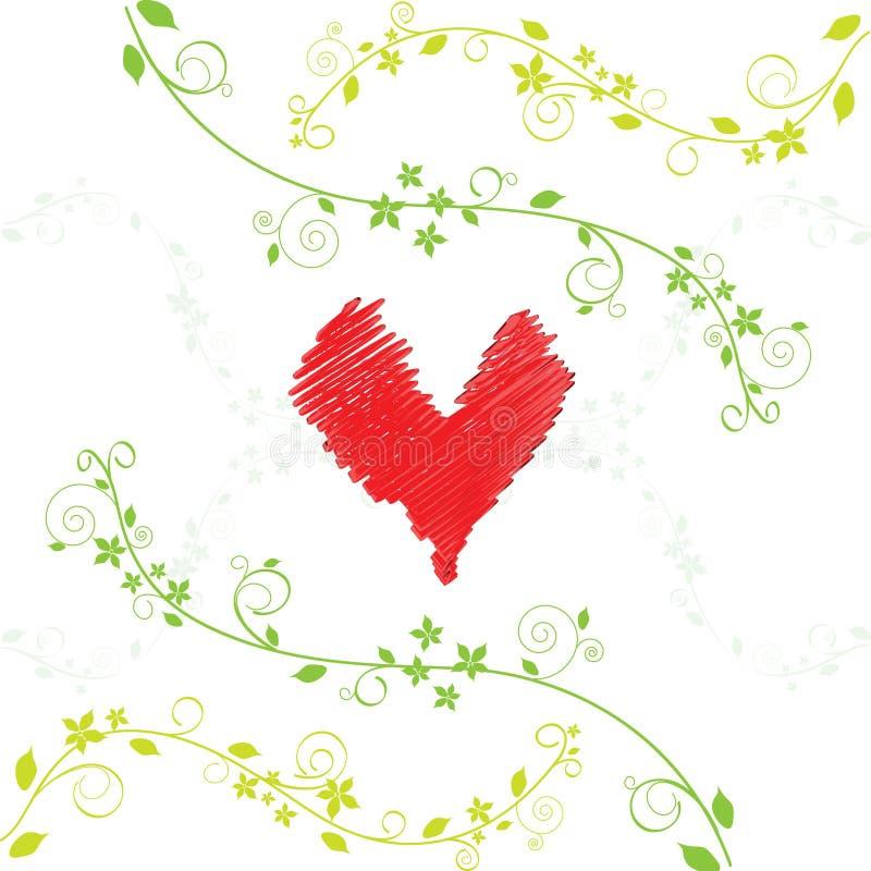 Liebeskarte. Vektor. lizenzfreie stockbilder