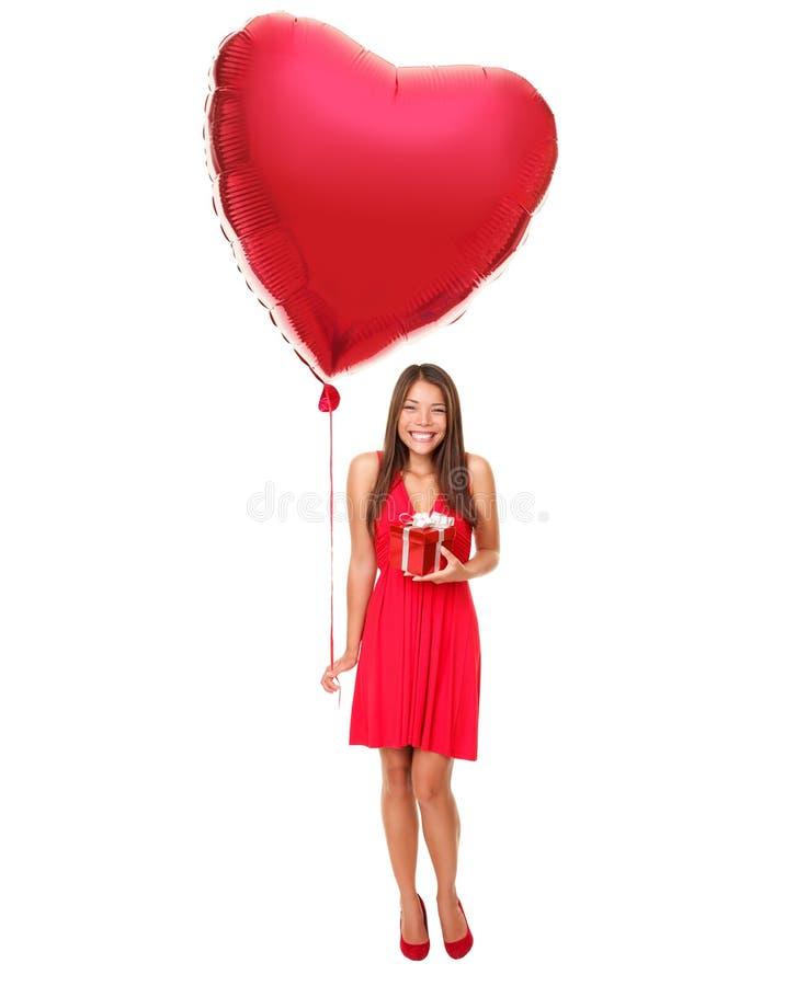 Liebeskonzeptfrau getrennt lizenzfreies stockbild
