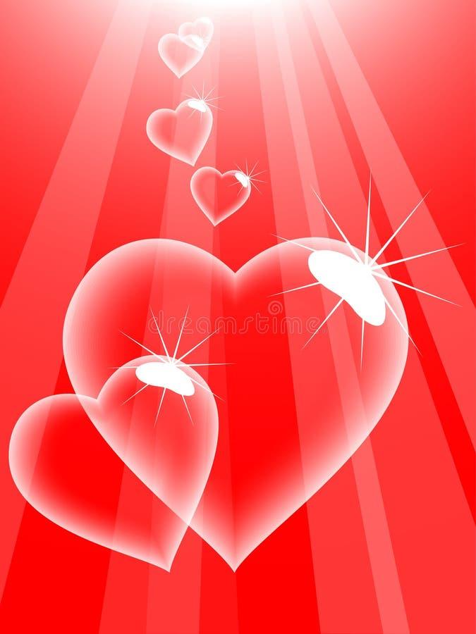 Liebesluftblasen. stock abbildung