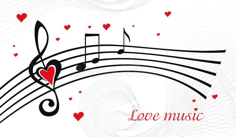 Liebesmusik lizenzfreie abbildung