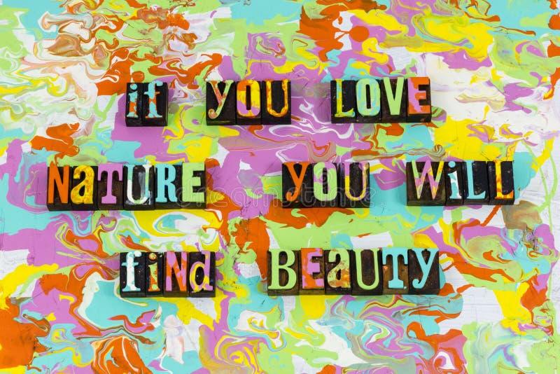 Liebesnatur-Schönheitsanerkennung genießen stockbilder