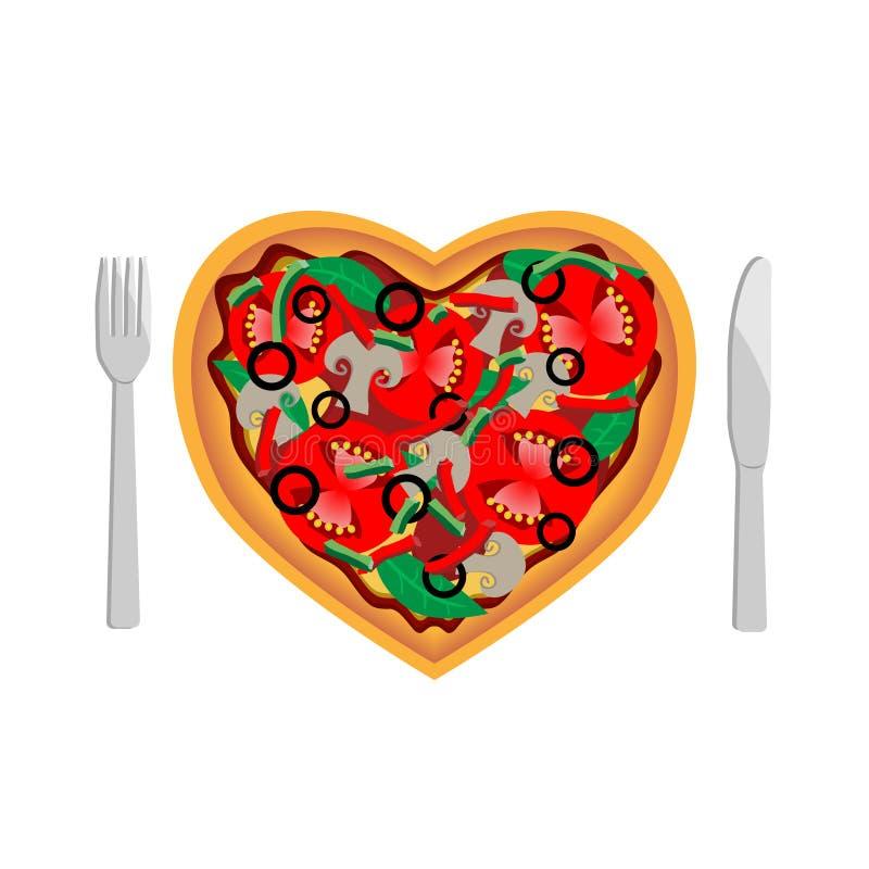 Liebespizza stock abbildung
