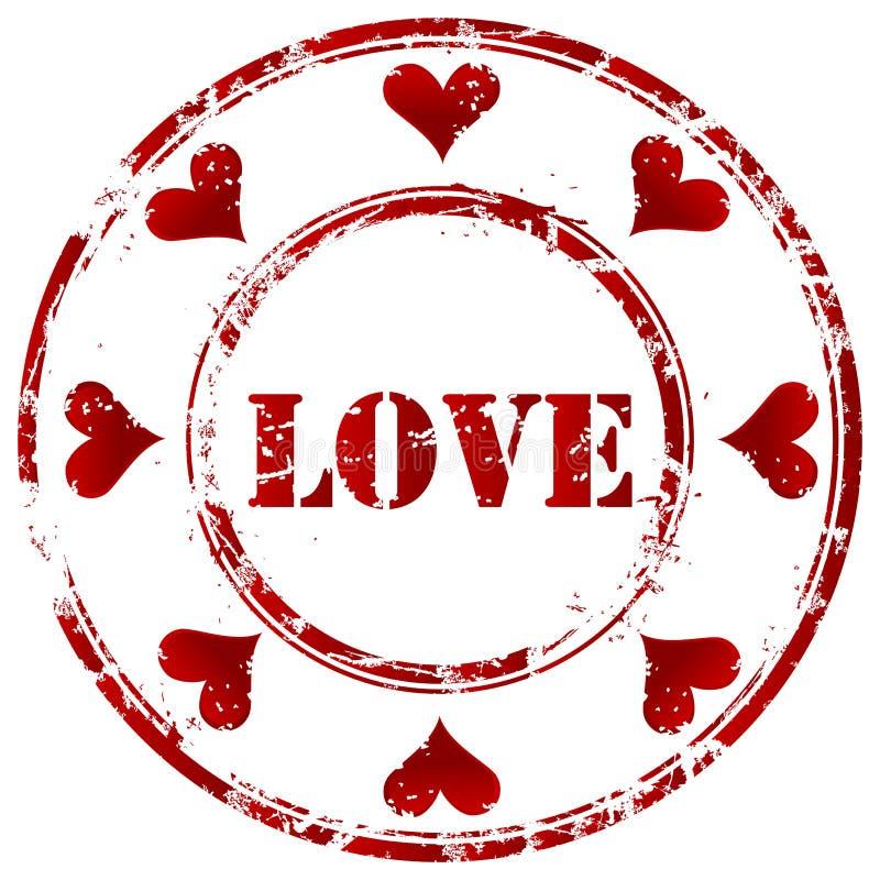 Liebesstempel lizenzfreie abbildung