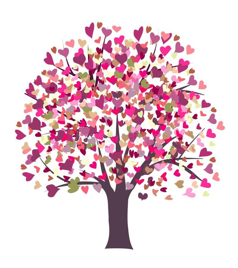 Liebessymbolbaum vektor abbildung
