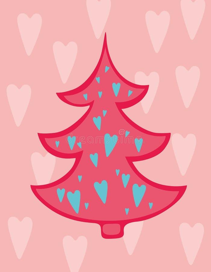 LiebesWeihnachtsbaum stock abbildung