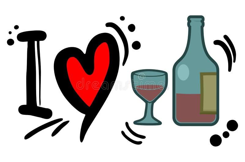 Liebeswein stock abbildung