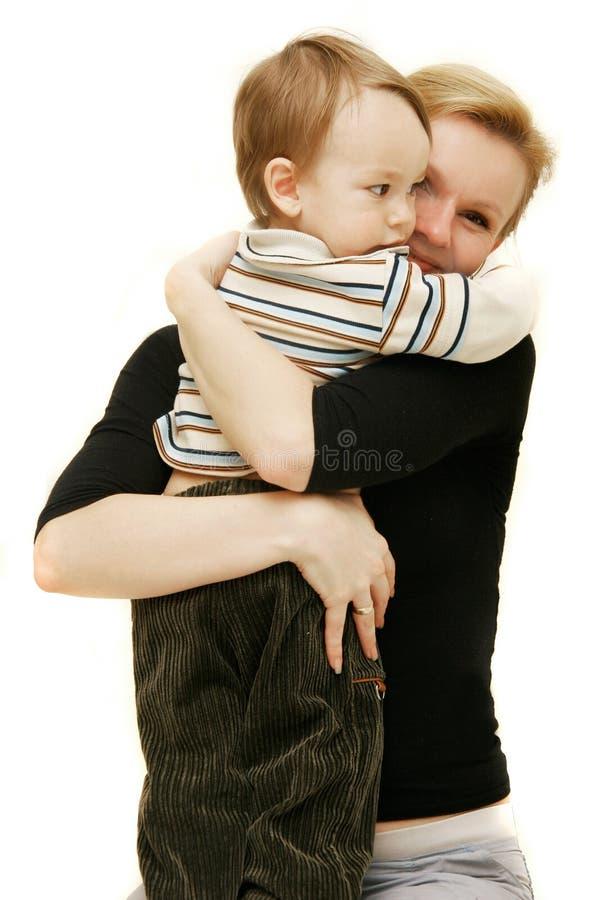 Liebevolle Mutter und Sohn lizenzfreie stockfotos