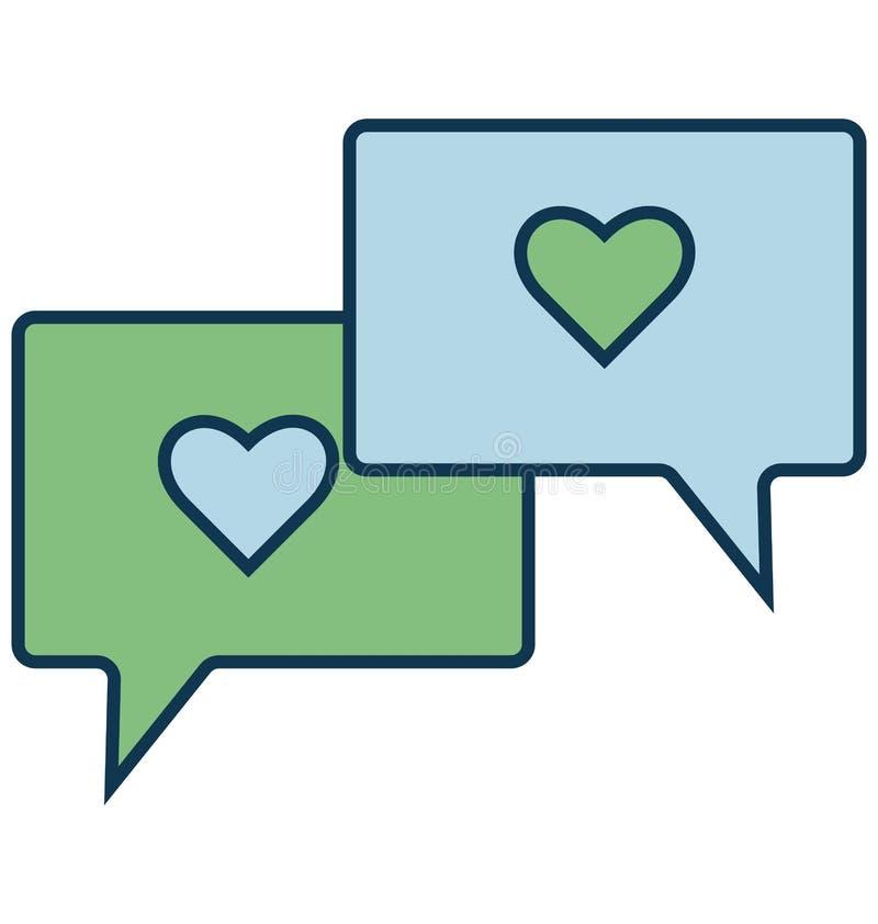 Liebevoller Chat lokalisierte Vektor-Ikone für Partei und Feier vektor abbildung