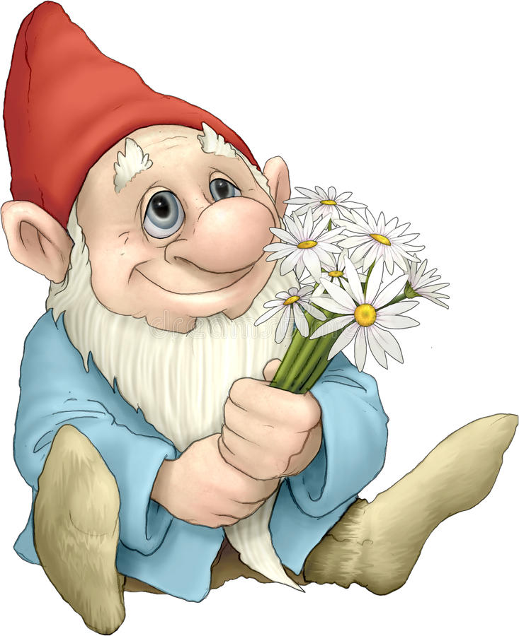 Liebevoller Gnome vektor abbildung