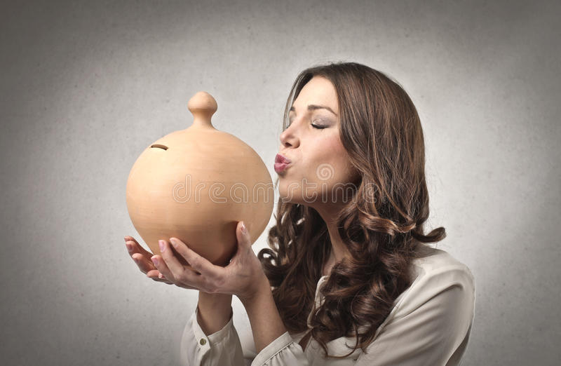 Liebevolles Geld stockfotografie