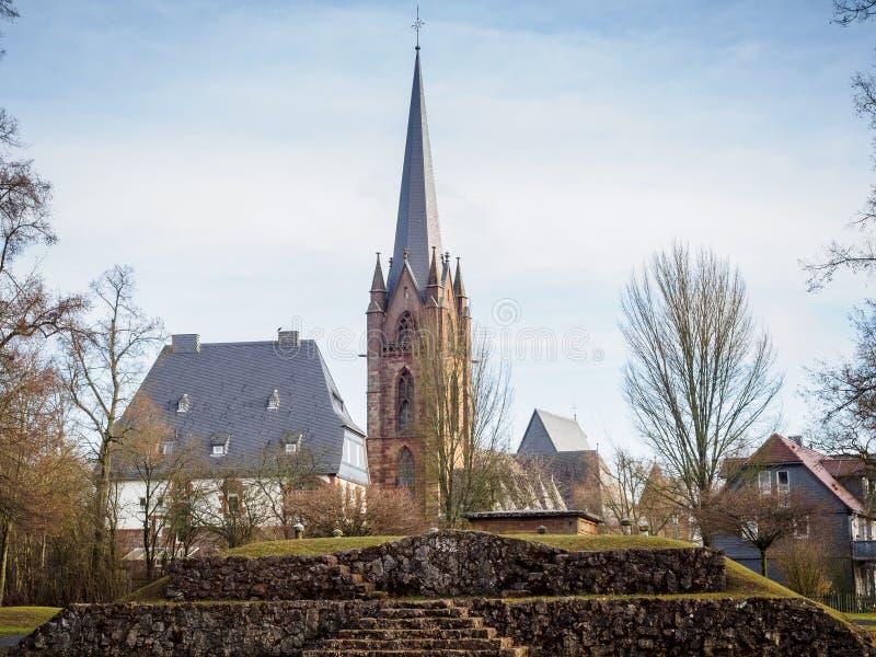 Liebfrauenkerk Fankenberg Eder Germany royalty-vrije stock afbeeldingen