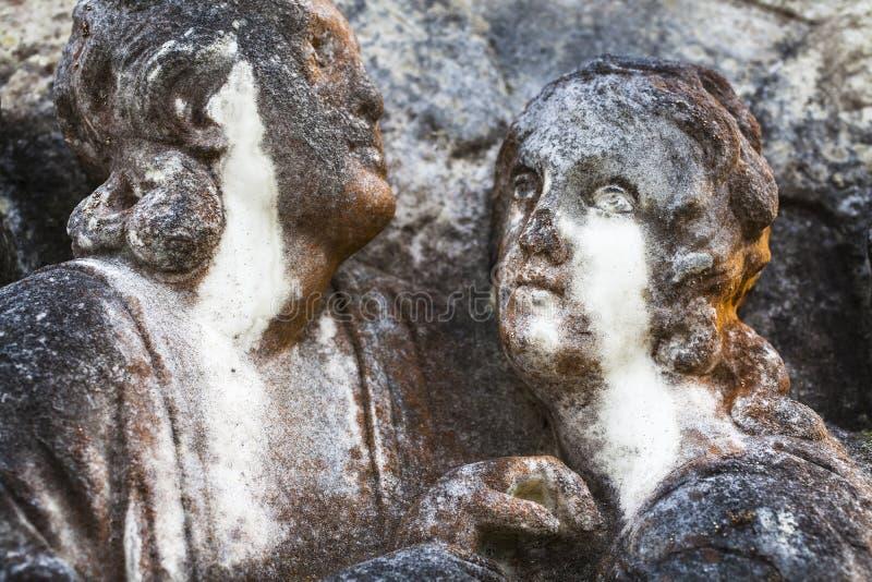 Liebhaber im Stein in Schottland stockbilder