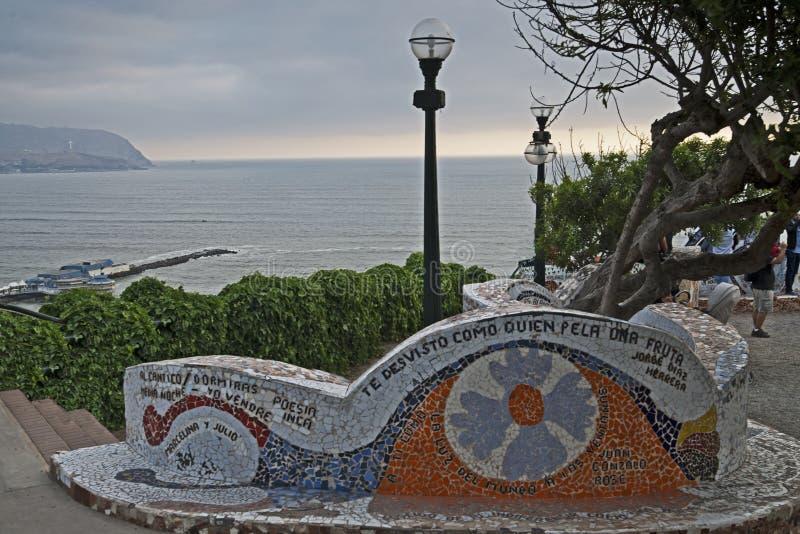 Liebhaber; s-Park, Perú aus Lima lizenzfreies stockfoto
