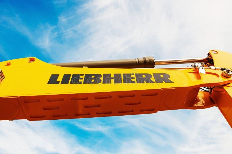 Liebherr-Hydraulikbaggerarm stockfotografie