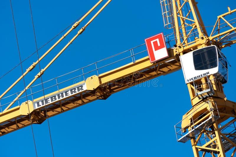 Liebherr mobiele kraan royalty-vrije stock foto's
