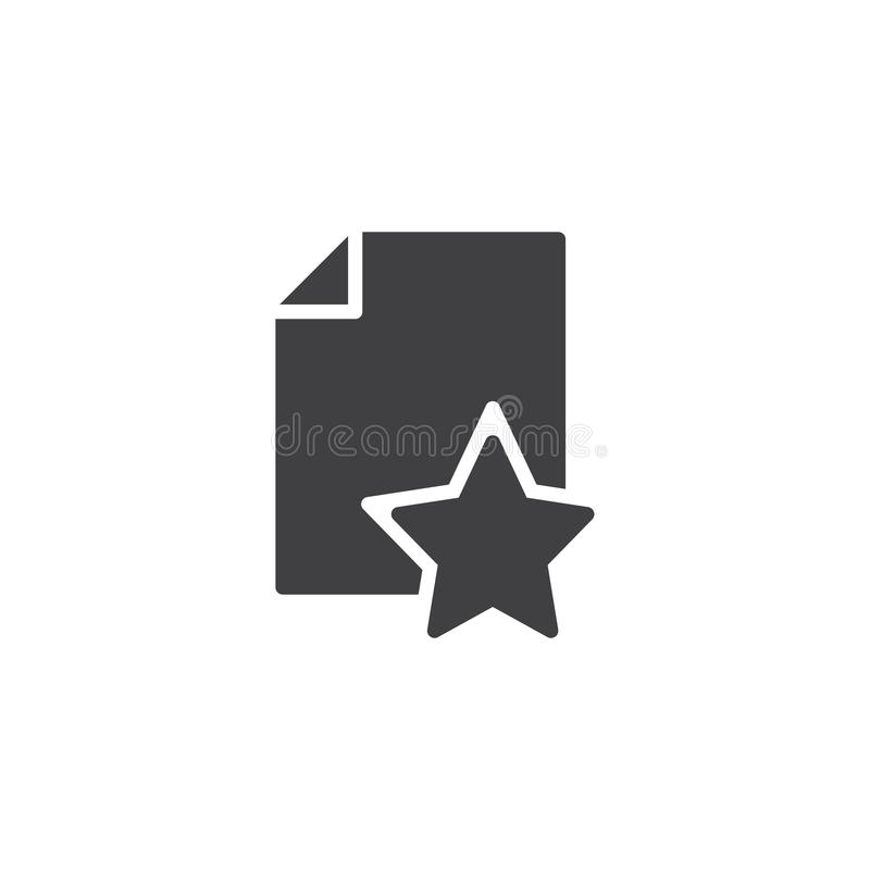 Lieblingsbelegdatei-Vektorikone stock abbildung