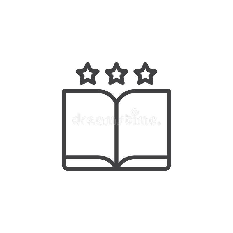 Lieblingsbuchentwurfsikone lizenzfreie abbildung