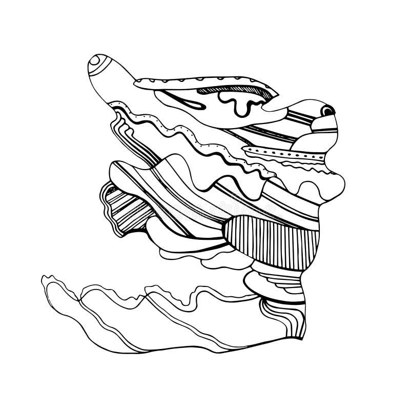 Liebres abstractas de la moda del juguete en el viento imagen de archivo