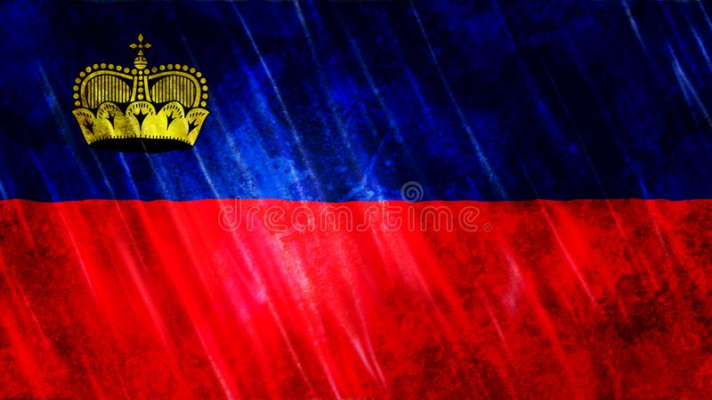 Liechtenstein Flag royalty free illustration