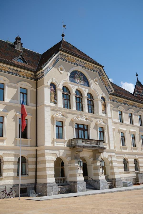 Liechtenstein Krajowi archiwa, Vaduz, Liechtenstein obraz stock