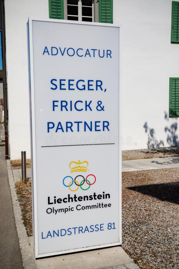 Liechtenstein`s Olympic Committee stock images