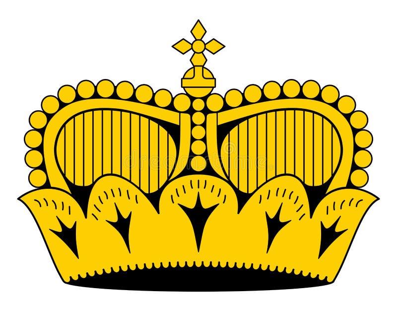 Liechtensteinsk furstlig hattkrona, som den visas på nationell fla stock illustrationer