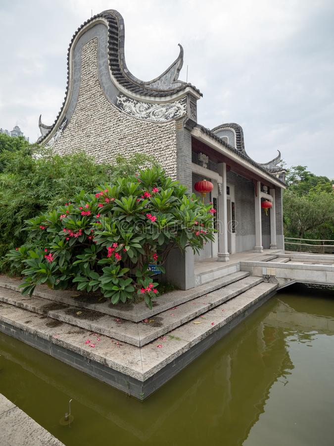 Liede forntida tempel, Guangzhou, Kina royaltyfri foto