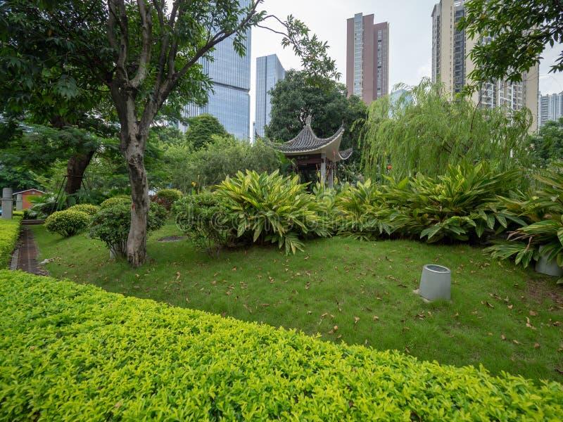 Liede forntida tempel, Guangzhou, Kina royaltyfri bild
