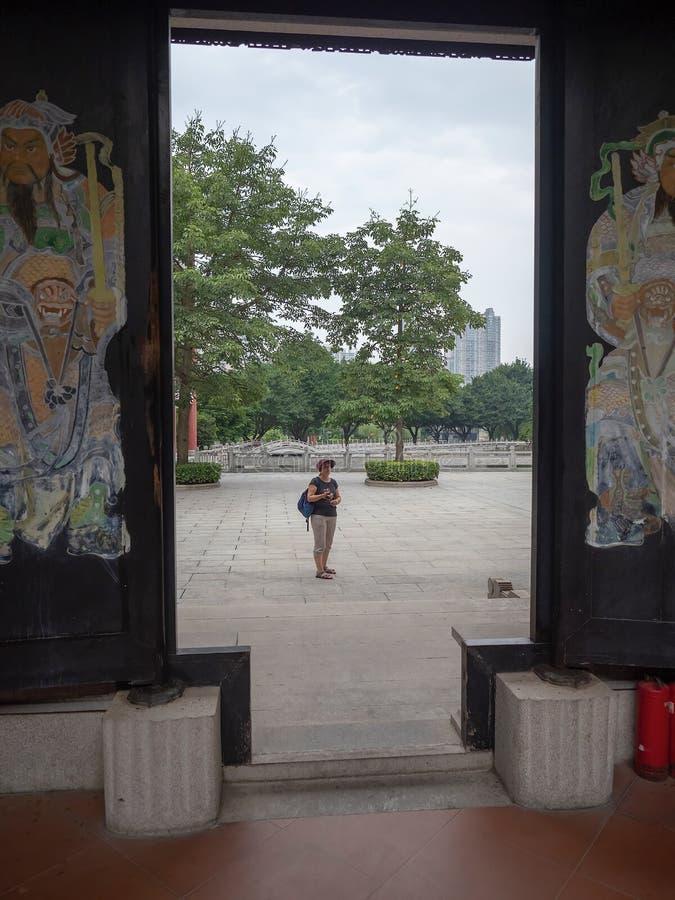 Liede forntida tempel, Guangzhou, Kina royaltyfria bilder